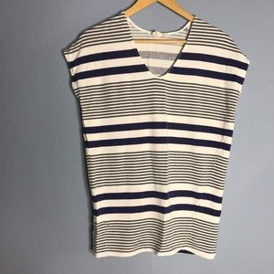 Lilka Anthropologie Striped Short Sleeve Shirt Top